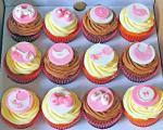 Baby girl theme cupcakes