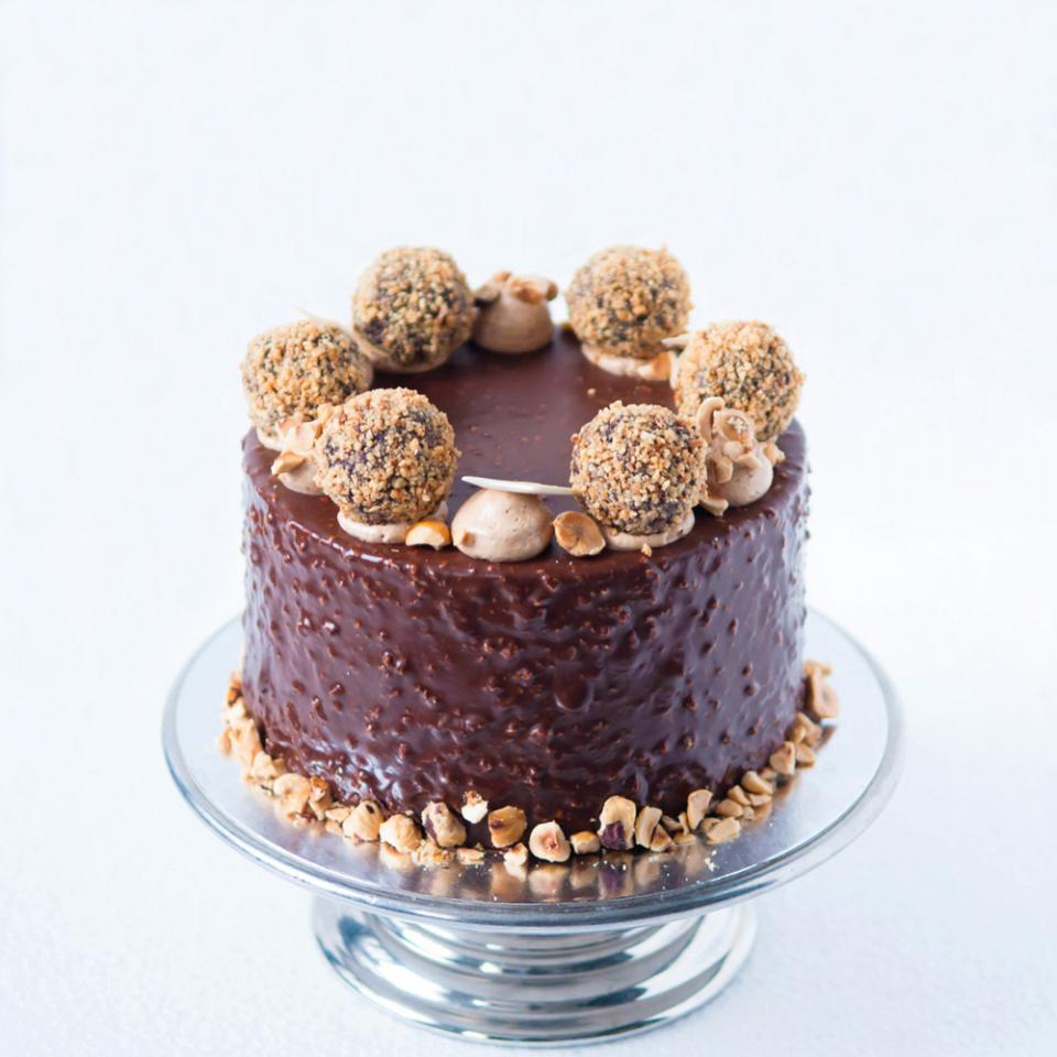 Birthday chocolate hazelnut crunch cake order online London delivery