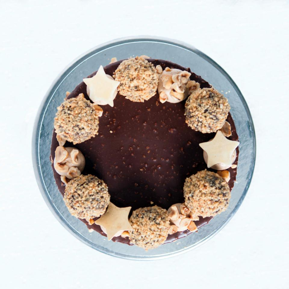 Celebration chocolate hazelnut crunch cake buy bakery near me