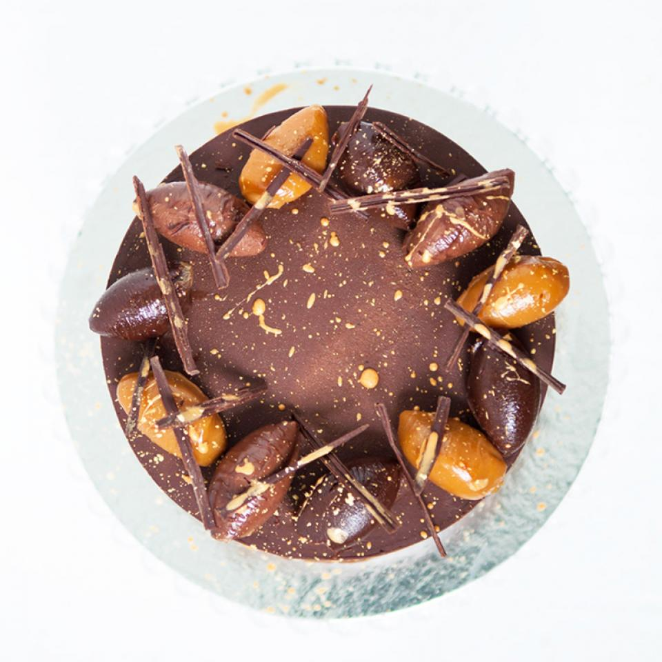 Chocolate salted caramel cake delivered to Finchley, Islington
