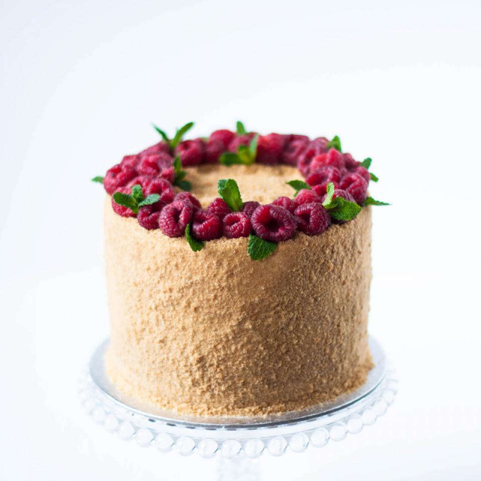 "Celebration honey caramel cake medovik 8"" buy online London"