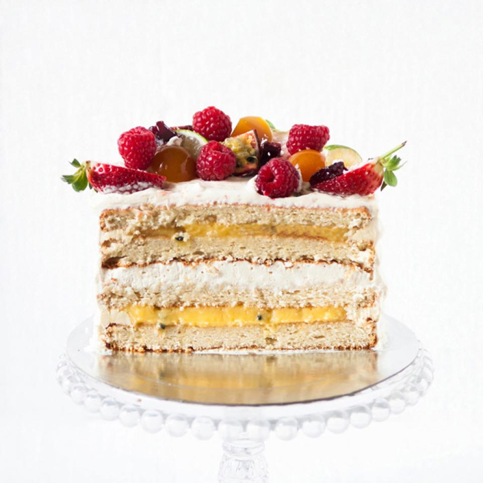Passion fruit coconut cake buy online delivered Central London