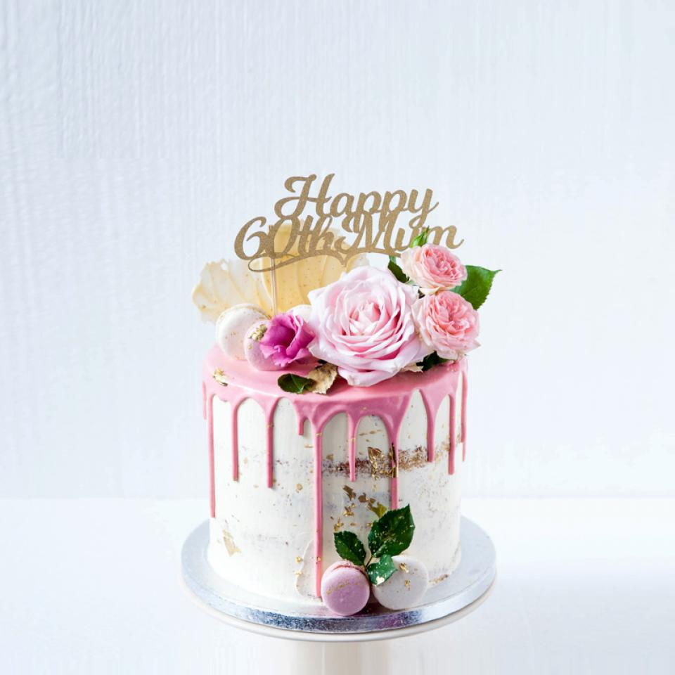 Amazing 8 Pink Drip Birthday Cake London Cakes Bakes Funny Birthday Cards Online Alyptdamsfinfo