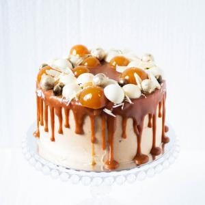 "Banana salted caramel cake, buy online 6"" - £45.00"