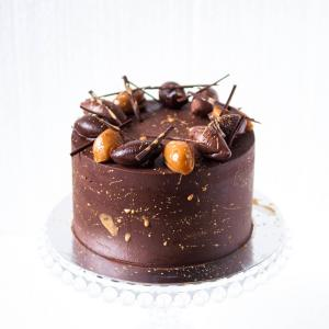 Birthday chocolate salted caramel cake buy online delivered in London