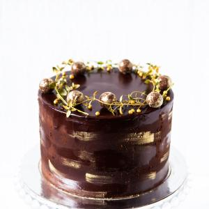 "6"" chocolate truffle cake buy online £45.00 delivered London"