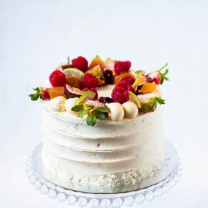 "6"" passion fruit coconut cake buy online London £50.00"